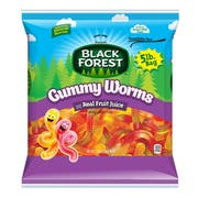 Black Forest Gummy Worm Candy - Resealable, 5 Pound -- 6 per case.