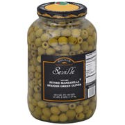 Seville Pitted Manzanilla Spanish Green Olives, 1 Gallon -- 4 per case.