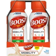 BOOST Very Vanilla Mobility Nutritonal Drink, 8 Fluid Ounce - 6 count per pack -- 4 packs per case