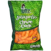 Utz Jalapeno Cheese Curls, 3.5 Ounce -- 14 per case.