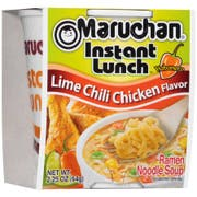Maruchan Instant Lunch Lime Chili Chicken Flavor Noodles Soup, 2.25 Ounce -- 12 per case.