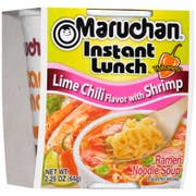 Maruchan Instant Lunch Lime Chili Flavor with Shrimp - 2.25 oz. cup, 12 per case