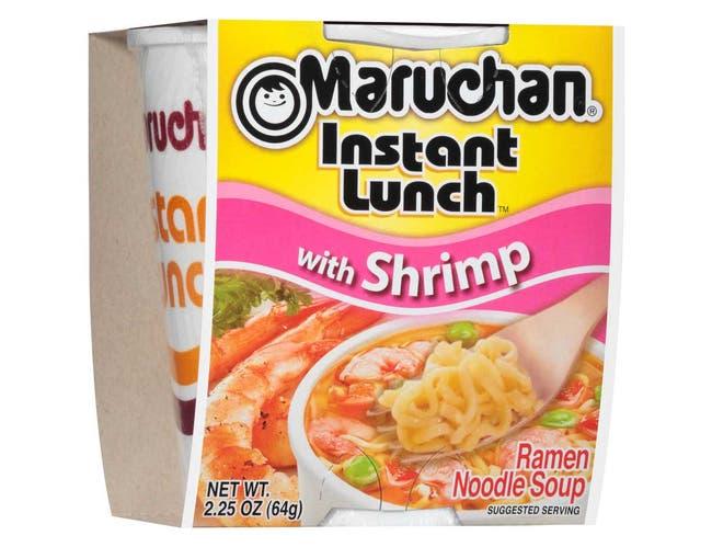 Maruchan Instant Lunch Shrimp Flavor - 2.25 oz. cup, 12 per case
