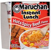 Maruchan Instant Lunch Hot N Spicy Beef Flavor - 2.25 oz. cup, 12 per case