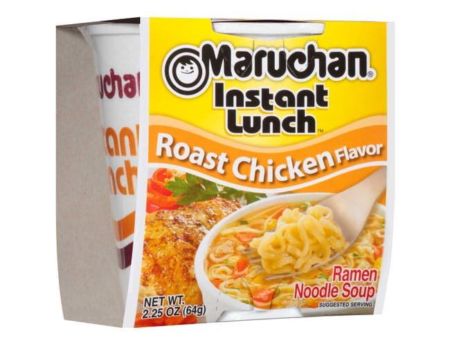Maruchan Instant Lunch Roast Chicken Ramen Noodle Soup , 2.25 Ounce -- 12 per case.