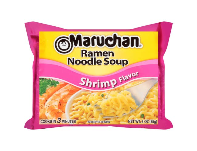 Maruchan Ramen Noodle Soup Shrimp Flavor - 3 oz. package, 24 per case