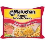 Maruchan Ramen Noodle Soup Roast Beef Flavor - 3 oz. package, 24 per case