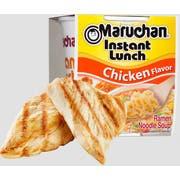 Maruchan Instant Lunch Less Sodium Chicken Flavor Ramen Noodle Soup, 2.25 Ounce Paper Cup -- 12 per case