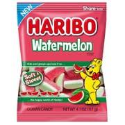 Haribo Confectionery Watermelon Gummi Candy, 4.1 Ounce Bag -- 12 per case