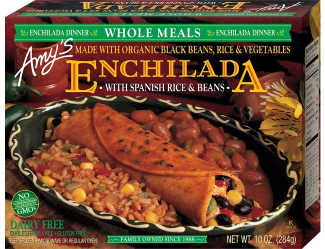 Amys Organic Black Bean Enchilada Whole Meal, 10 Ounce -- 12 per case