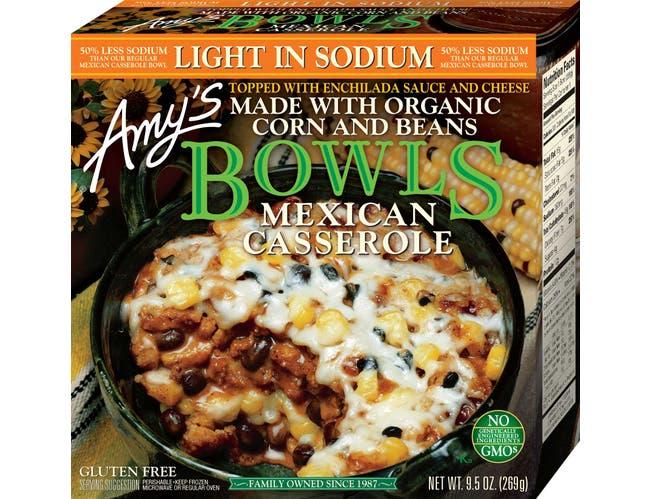 Amys Organic Light In Sodium Mexican Casserole Bowl, 9.5 Ounce -- 12 per case