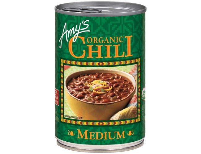 Amys Organic Medium Chili, 14.7 Ounce -- 12 per case