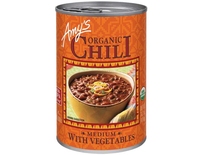 Amys Organic Medium Chili with Vegetable, 14.7 Ounce -- 12 per case