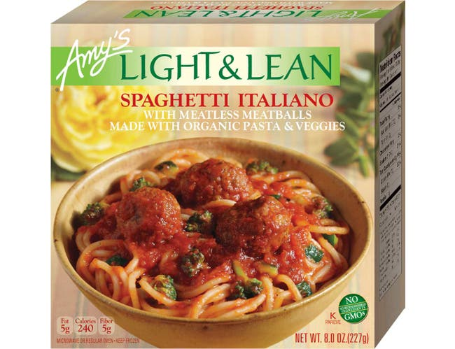 Amys Organic Light and Lean Spaghetti Italiano, 8 Ounce -- 12 per case