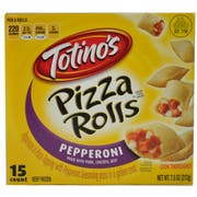 Totinos Pepperoni 7.5 Ounce Pizza Roll, 15 count per pack -- 12 per case.