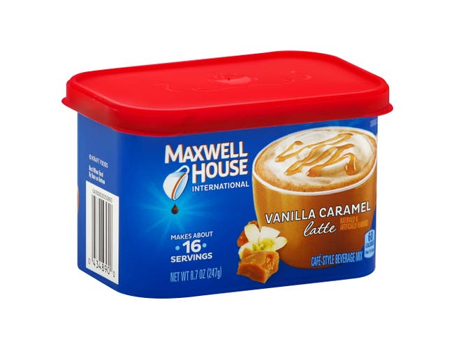 Maxwell House Vanilla Caramel Latte Cafe Style Instant Beverage Mix, 8.7 Ounce -- 8 per case.