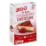 JELL-O No Bake Strawberry Cheesecake Mix, 19.6 Ounce -- 6 per case