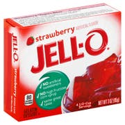 Jello Strawberry Gelatin, 3 Ounce --24 Case