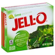 Jello Lime Gelatin, 3 Ounce --24 Case