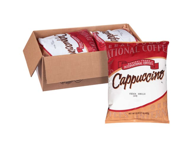 General Foods International French Vanilla Cappuccino Mix - 2 lb. pouch, 6 pouches per case