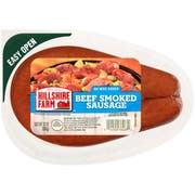 Hillshire Farm Beef Smoked Sausage Rope, 12 Ounce -- 8 per case.