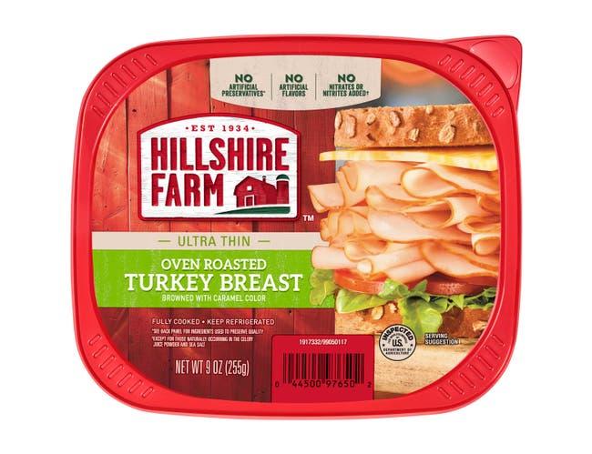 Hillshire Farm Lunchmeat Ultra Thin Oven Roasted Turkey Breast, 9 Ounce -- 9 per case.