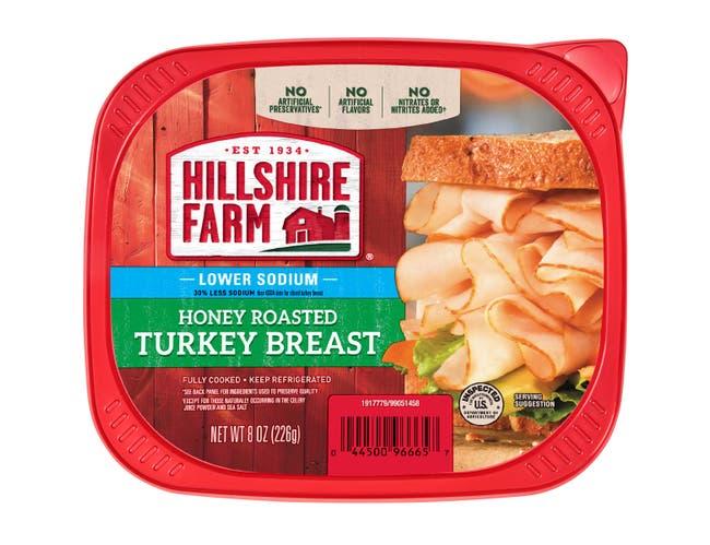 Hillshire Farm Honey Roasted Turkey Breast, 8 Ounce -- 9 per case.