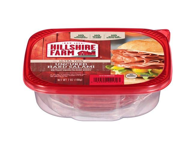 Hillshire Farm Ultra Thin Sliced Uncured Hard Salami Lunchmeat, 7 Ounce -- 6 per case.