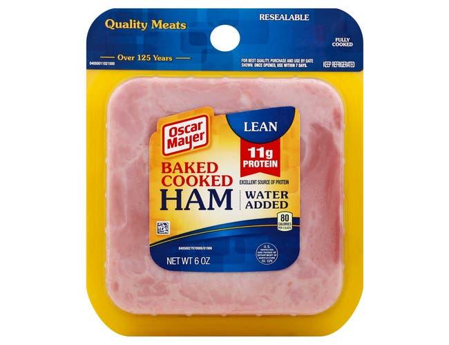 Oscar Mayer Sliced Cooked Baked Ham, 6 Ounce -- 9 per case.