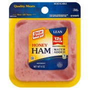 Oscar Mayer Square Sliced Honey Ham, 6 Ounce -- 9 per case.