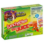 Lunchable Turkey and Cheddar Cracker Stackers Lunch Combination, 0.575 Pound -- 8 per case.