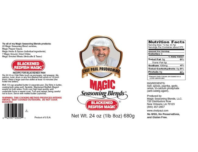 Magic Seasoning Blends - Blackened Redfish Seasoning, 5 Pound -- 1 each.