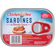 Chicken of the Sea Sardines in Tomato Sauce, 3.75 Ounce -- 18 per case.