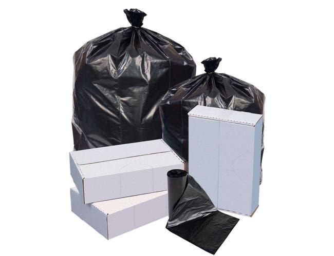 Pitt Plastics Black Interleaved Can Liner, 33 Gallon -- 250 per case.