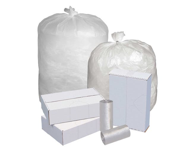 Pitt Plastics Value High Density Performance Clear 40 x 46 15 Mil Can Liner Roll -- 250 per case.