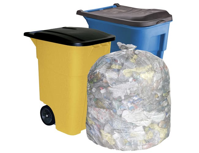 Pitt Plastics Clear Flat Can Liner for 50 Gallon Gusset Bag -- 50 per case.