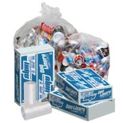 Pitt Plastics 17 x 17 Clear Perforated Can Liner Roll -- 1000 per case.