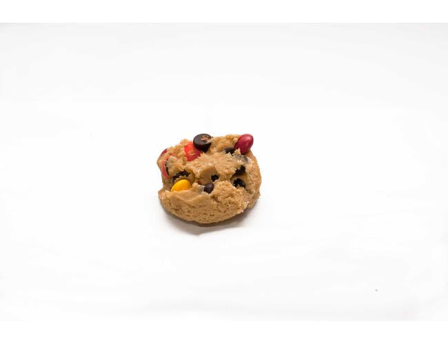 Davids Cookies M and M Chocolate Chip Cookie Dough, 4 Ounce -- 80 per case.