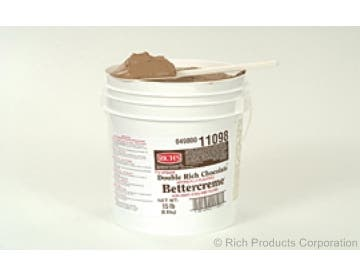 Rich Bettercreme Pre Whipped Double Rich Chocolate Icing and Filling, 15 Pound -- 1 each.