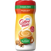 Coffee-Mate Sugar-Free Hazelnut Powder Creamer - 10.2 oz. canister, 6 canisters per case