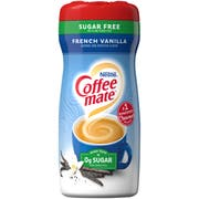 Coffee-Mate French Vanilla Sugar-Free Powder Creamer - 10.2 oz. canister, 6 canisters per case