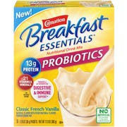 Carnation Breakfast Essentials Probiotic Classic French Vanilla Nutritional Drink Mix, 1.26 Ounce Packet - 10 count per pack -- 6 packs per case