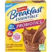 Carnation Breakfast Essentials Probiotic Rich Milk Chocolate Nutritional Drink Mix, 1.26 Ounce Packet - 10 count per pack -- 6 packs per case