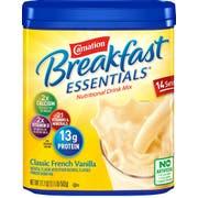 Carnation Breakfast Essentials Classic French Vanilla Nutritional Drink Mix, 17.7 Ounce Jar -- 6 per case