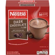 Nestle Dark Chocolate Hot Cocoa Mix - 50 single serve packets per box, 6 boxes per case