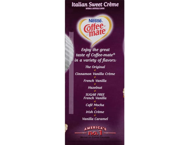 Nestle Coffee Mate Italian Sweet Creme Coffee Creamer, 0.32 Ounce -- 4 per case.