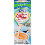 Coffee Mate Sugar Free French Vanilla Liquid - 50 count per pack -- 4 packs per case.