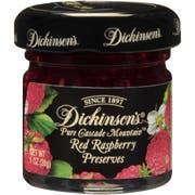 Dickinson Red Raspberry Preserves, 1 Ounce -- 72 per case.