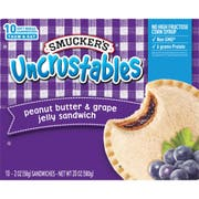 Smuckers Uncrustables Peanut Butter and Grape Jelly Sandwich, 2 Ounce -- 60 per case.