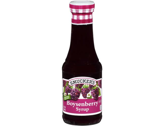 Smuckers Boysenberry Syrup, 12 Fluid Ounce -- 6 per case.